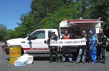 Washington Department of Ecology NW Regional Office employees promote OILS 911. Washington Department of Ecology NW Regional Office employees promote OILS 911.